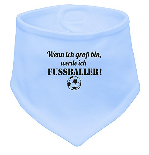 Angry Shirts Wenn ich Groß bin werde ich Fußballer - Baby Halstuch