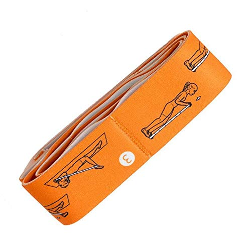 XSYYQYLL Widerstandsband 3 PC-Widerstand-Bänder Set Gummiband for Fitness Gummibänder Gummibänder for Gum Set Sport Yoga-Übung und Fitnessraum Gummi for den Tanz (Color : Orange)