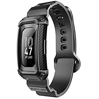 SUPCASE Unicorn Beetle Pro Series Design for Fitbit Inspire & Fitbit Inspire Hr Replacement Bands with Built-in Rugged Protective Case  Black