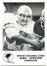 1981 Jogo Glen Jackson Rookie Card #32 BC Lions Simon Fraser