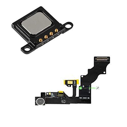 Expert-mobile Combo - Mantel para cámara frontal FaceTime con sensor de proximidad y auricular compatible con iPhone 6