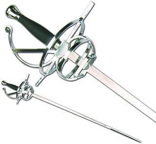 Renaissance Rapier Fencing Sword w/ Swept Hilt Guard