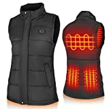 Binnice Heated Vest for Men and Women Electric Warm Vest Adjustable Heated Jacket for Outdoor Motorcycle Travel Riding Golf