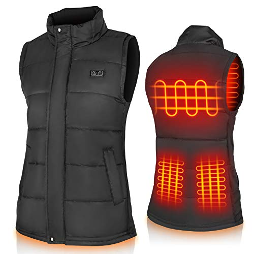 Binnice Heated Vest for Men and Women Electric Warm Vest Adjustable Heated Jacket for Outdoor Motorcycle Travel Riding Golf Hunting Hiking (Large-X-Large)