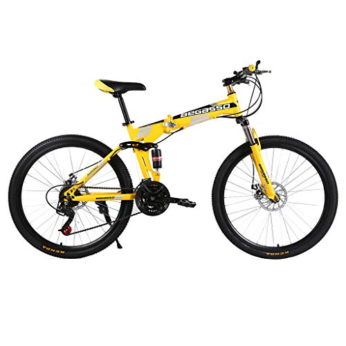 Great Price! Lelili 🏝 Outdoor Folding Mountain Bike Variable-Speed Bicycle 26 Inch for Adult Men & Women