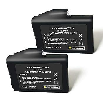 Sun Will 2 pièces Rechargeables 7.4 V 2200 MAH Li-ION Batteries pour Gants Chauffants Chaussettes Chapeaux Cagoule Ski Masque vêtements