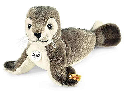 Steiff Robby Seehund - 30 cm - Kuscheltier für Kinder - kuschelig & waschbar - grau/weiß (063114)
