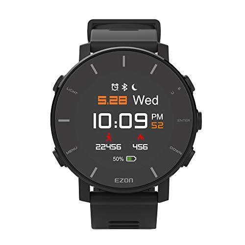 ランニングウォッチ GPS フィリップス技術搭載心拍計 JDI液晶フィルム付き IP67防水防塵 Bluetooth搭載 歩数計活動量計 着信通知 アプリ対応 EZONT935B01