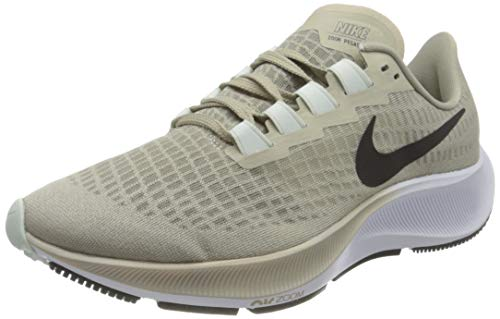 Nike Herren Air Zoom Pegasus 37 Running Shoe, Stone/Black-Light Army-Off Noir-Barely Green, 45.5 EU