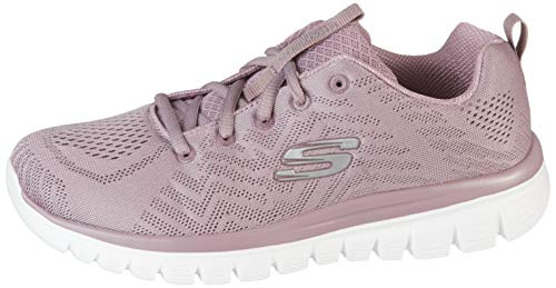 Skechers 12615/LAV Graceful-Get Connected Damen Sneaker violett, Größe:39, Farbe:Violett