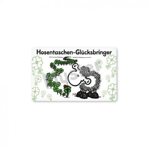 Sheepworld - 57084 - Pocketcard, Hosentaschen-Glücksbringer, PVC