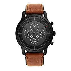 Image of Fossil Men's Hybrid Smartwatch HR with Always-On Readout Display, Heart Rate, Activity Tracking, Smartphone Notifications, Message Previews: Bestviewsreviews