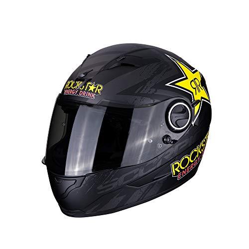Scorpion Unisex– Erwachsene NC Motorrad Helm, Schwarz/Gelb, M