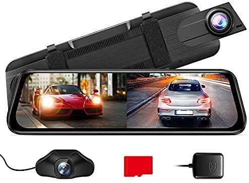 AZDOME PG02S 2.5K Mirror Dash Cam, Voice Control...