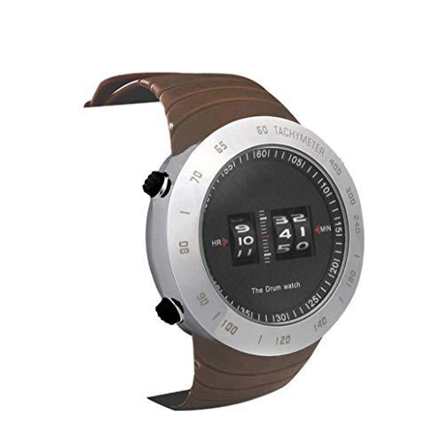 TOHOYOK Reloj electrónico de Rodillos, Correr al Aire Libre de Escalada Deportiva Resistente al Agua Reloj de Cuarzo Ocasional Pares, aleación de Reloj electrónico