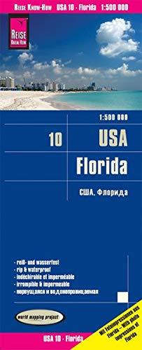 Reise Know-How Landkarte USA 10, Florida (1:500.000): reiß- und wasserfest (world mapping project): Alle Nationalparks, viele Stateparks. ... und ausführlicher Ortsindex. GPS-tauglich