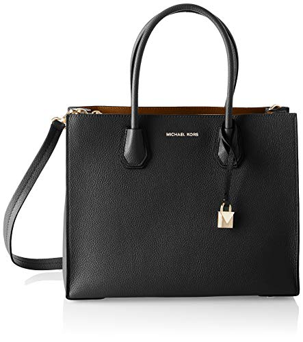 Michael Kors Mercer, Bolso Totes para Mujer, Negro (Black), 12.7x21.6x23.2 Centimeters (W...