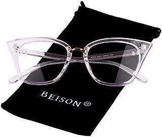 Beison Womens Cat Eye Mod Fashion Eyeglasses Frame Clear...