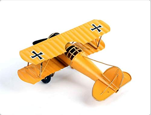 Buy and buy at Brandon Home Decoration Aircraft Model Metal Wrought Iron Ornaments Crafts Creative Gift OrnamentsYellowA