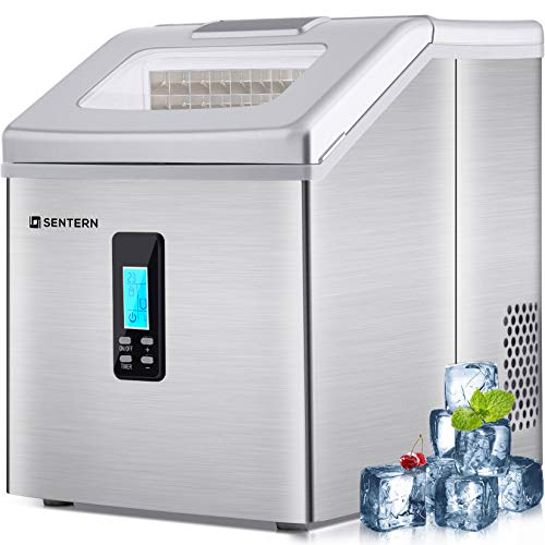 Merax 48 lbs Sentern Portable Countertop Clear Ice Maker Stainless Steel Ice Making Machine