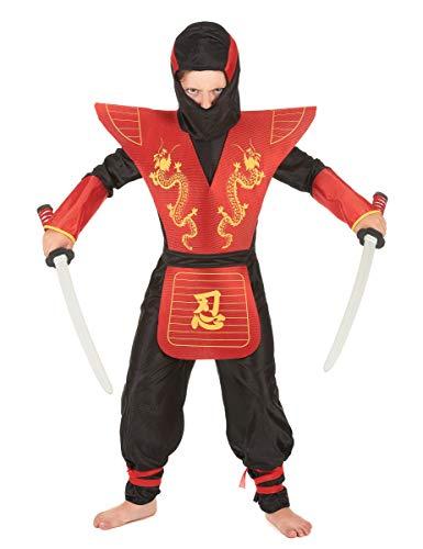 Generique - Disfraz de Ninja para niño con Armadura - 5-7 años (128 cm)