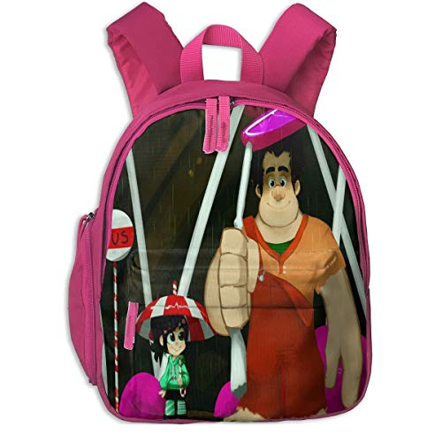 Backpacks Wreck-It Ralph Kids Backpacks School Bags for Boys & Girls Pre School Bag Cute Cartoon Backpack Sized for Kindergarten, Preschool