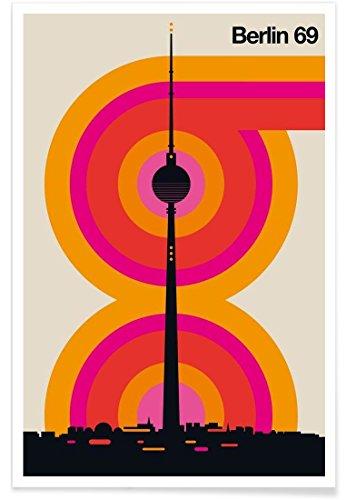 """JUNIQE® Retro Berlin Poster 20x30cm - Design """"Berlin 69"""" entworfen von BO Lundberg"""