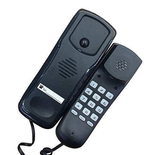 KLOP256 Telefono fisso Telefoni Fissi Multifunzione Front Desk sy Installare Montaggio A Parete Hotel Reception Portatile Ufficio Cablato Desktop Con Manico Business(Nero)