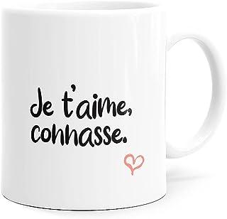Mug Humour Je t'aime Connasse Tasse Message drôle. Idée Cadeau Original Amis Couple Amoureux Collègue Frère Sœur Mari Femm...