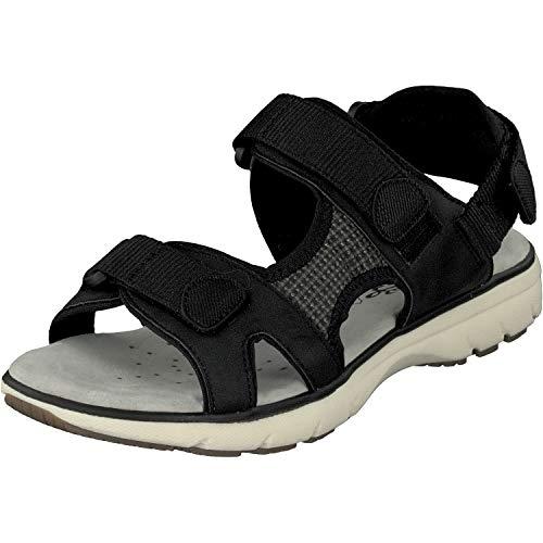 Relife Damen Schuhe Sandalen Trekking 9717-19702-02 bis Gr.44 (40 EU, Black)