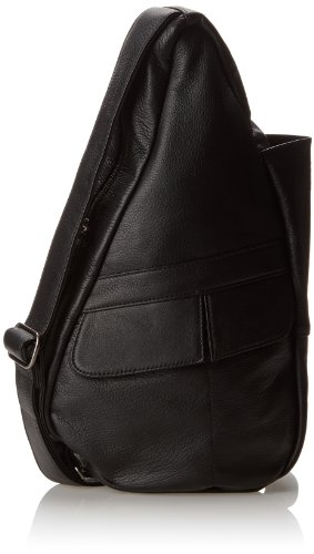 AmeriBag Classic Leather Healthy Back Bag tote Extra-small,Black,one size