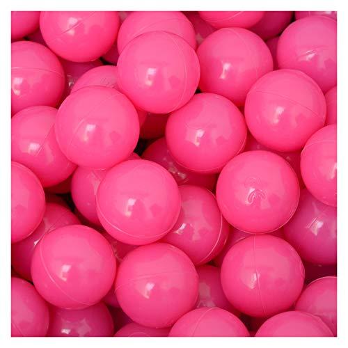 LittleTom 50 Bälle für Bällebad 5,5cm Babybälle Plastikbälle Baby Spielbälle Pink Rosa