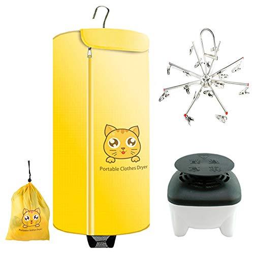 Dryer-EJOYDUTY 500W Tragbarer Elektrischer Trockner, Faltbare Indoor Kleidung Heater, Schnell Trocknend, für Zuhause und Reisen,Gelb