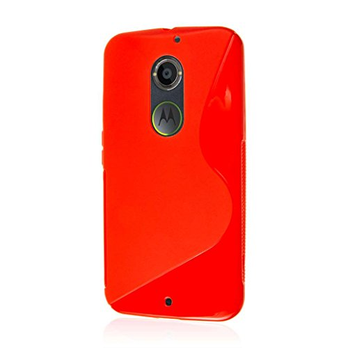 Moto X 2nd Gen Case, MPERO Flex S Series Protective Case for Motorola Moto X XT1096 (2nd Gen 2014) - Red
