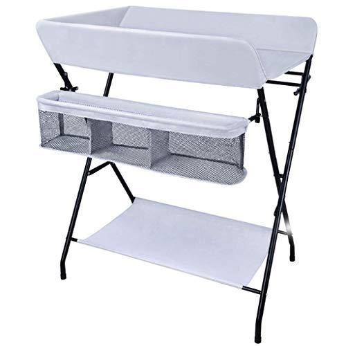 JALAL Table à Langer Pliante pour Petits espaces, Commode de Station de Massage pour Couches pour bébé Portable pour Voyage Domestique, Gris, 0-2 Ans