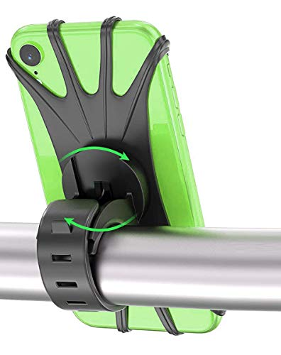 Handyhalterung Fahrrad, OVAREO 360° Drehbare Handyhalterung Motorrad, Anti-Shake Handyhalter Fahrrad für Samsung S20/ S10/ S10e/iPhone 11 Pro Max/X/XS MAX/XR/ 8/8 Plus & Alle 4,0-6,5 Zoll Handys