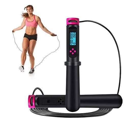 QUUY Springseil Mit Zähler, 2,8 M Verstellbare Digitale Springseile, Geschwindigkeitsübung Für Heimfitness Und Gewichtsverlust