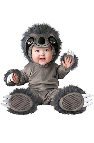 InCharacter Silly Sloth Infant Costume, X-Small (0-6) Grey