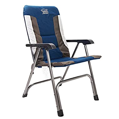 Timber Ridge Camping Chair Portable High Back with Carry Bag Easy Folding Padded for Outdoor Indoor, Lightweight Aluminum Frame, Support 300lbs