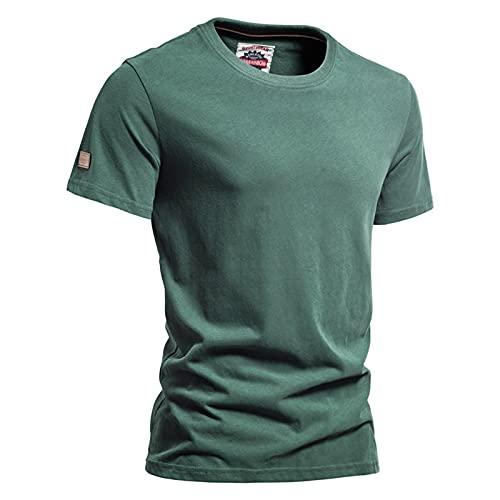 SSBZYES Camiseta para Hombre Verano Camisas De Manga Corta para Hombre Camisas para Hombre Camisetas De Lijado De Algodón De Color Sólido Camisetas De Pareja De Calidad Multicolor De Manga Corta