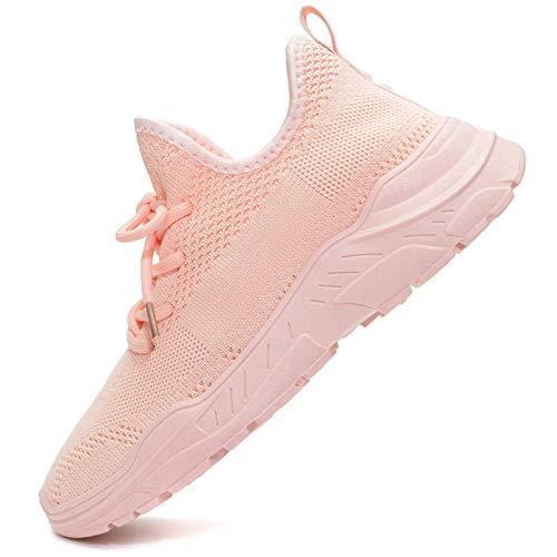 Vain Secrets Damen Sneaker Socken Laufschuhe atmungsaktive Sportschuhe Freizeit Schuhe in 4 Farben (Rose, Numeric_39)