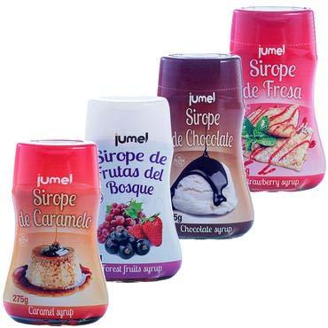 Pack de 4 unidades de Sirope JUMEL botella 275g. sin gluten