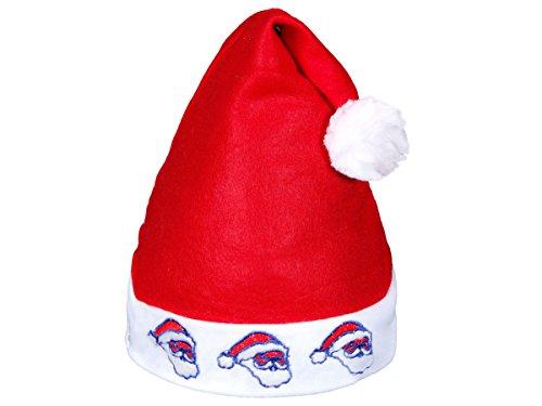 Alsino Weihnachtsmützen mit Licht Led Nikolausmützen (wm-57) 3 fröhlich blinkende Nikoläuse - für Kinder und Erwachsene