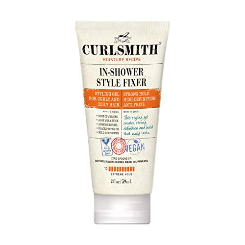 Curlsmith - In-Shower Style Fixer - Vegan Extreme Hold Styling Gel for Dry, Wavy, Curly or Coily Hair (2oz)