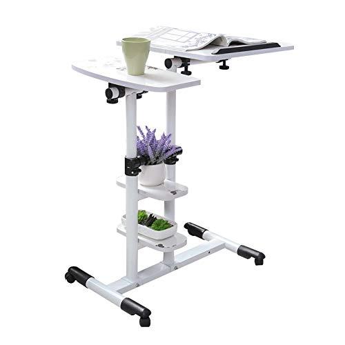 Ziekenhuis Bed Tafel op wielen, in hoogte verstelbare Tilt Mobile Overbed Table, Notebook Bureau Sofa Side Table for gebruik thuis, slaapzaal en kantoor (Color : A)