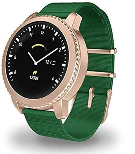MHPO Reloj inteligente de pantalla redonda pulsera inteligente ip68 impermeable USB carga hombres y mujeres fitness/deportes desgaste diario-E