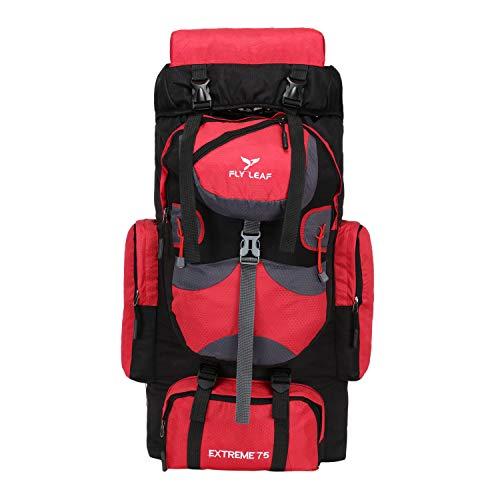 Flyleaf 75 LTR Mochila de viaje para deporte al aire libre campamento senderismo senderismo bolsa - rojo - 75L
