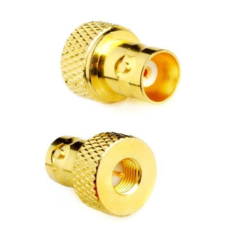 恐竜アクチュエータ分類DHT Electronics 2pcs RF coaxial coax adapter SMA male to BNC female goldplated [並行輸入品]