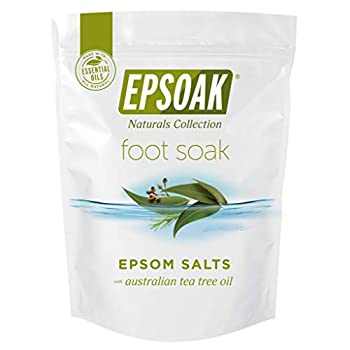 Tea Tree Oil Foot Soak with Epsoak Epsom Salt - 2 Pound Value Bag - Fight Bacteria Nail Fungus Athlete s Foot and Unpleasant Foot Odor