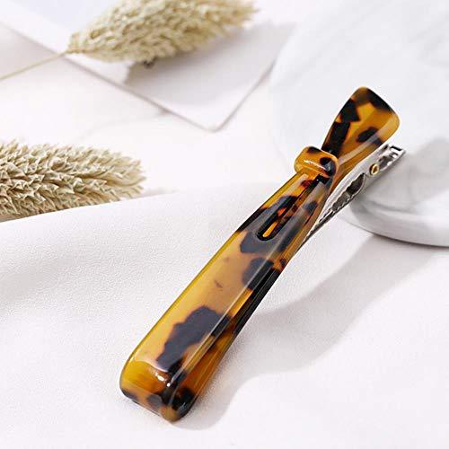 Nouveau Élégant Acétate Long Bow Léopard Coloré Femmes Clip de Cheveux Barrettes Lady Bandeau Épingles À Cheveux Chapeaux Mode Accessoires De Cheveux, brun
